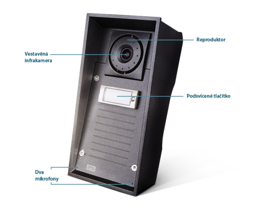 2N Helios IP Force 1tlačítko, HD kamera, 10W reproduktor