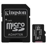 64 GB . microSDXC karta Kingston Canvas Select Plus Class 10 (r/w 100/10MB/s) + adaptér