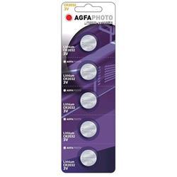 AgfaPhoto gombíková lithiová batéria 3V, CR2032, blister 5ks