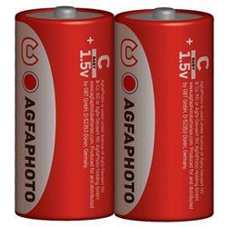 AgfaPhoto zinková batéria 1.5V, R14/C, shrink 2ks