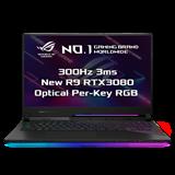 "ASUS ROG Strix SCAR 17 G733QS-HG171T AMD R9 5900HX 17.3"" FHD matný 300Hz RTX3080/16G 32GB 1+1TB SSD WL BT Cam W10 CS;"