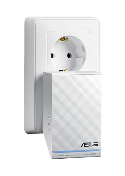ASUS RP-N12, Wireless-N300 External antenna boost Wi-Fi coverage.Quick and secure setup via WPS button. Smart LED sign