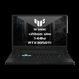 """ASUS TUF Dash F15 FX516PE-HN011T Intel i5-11300H 15.6"""" FHD 144Hz matny RTX3050-4GB 16GB 512GB SSD WL BT W10 CS;sedy"""