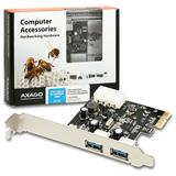 AXAGO PCEU-23R PCI-Express adaptér 2x USB3.0 Renesas + LP