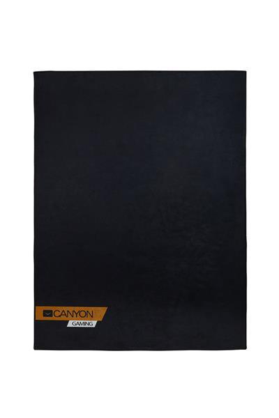 Canyon CND-SFM01 podložka na podlahu pod herné kreslo, polyester, protišmyková, 100x130cm, čierna