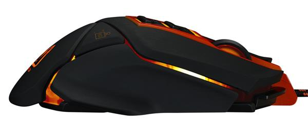 Canyon CND-SGM6N Hazard, hráčska myš, drôtová, optická, 800/1600/2400/4800/6400 dpi, 9 program. tlač, LED podsv., čierna