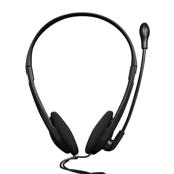 Canyon CNS-CHS01BO, PC Headset, 2 x 3.5mm mini-jack, slúchadla s mikrofónom, ovládanie na kábli, 1.8m, čierno - oranžové