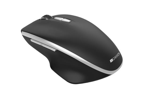 Canyon CNS-CMSW21B, Wireless optická myš, USB prij., Blue LED senz., 800/1.200/1.600 dpi, 3 tlač, 1x AA bat., čierna