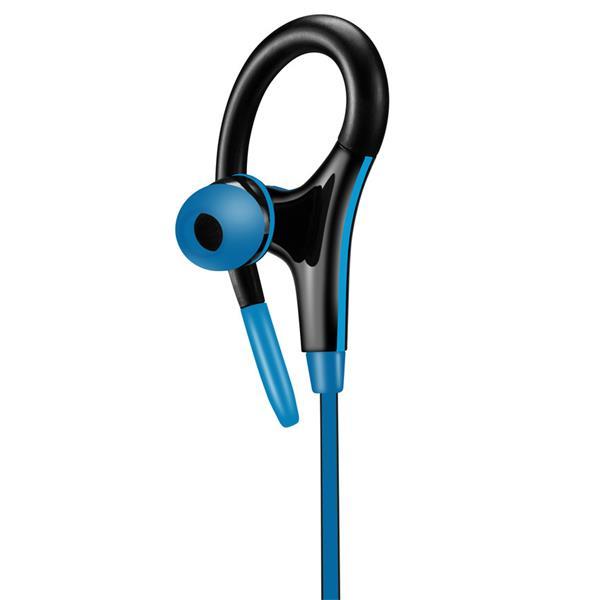 Canyon CNS-SEP2BL slúchadlá do uší pre športovcov, integrovaný mikrofón a ovládanie, háčik za ucho, modré