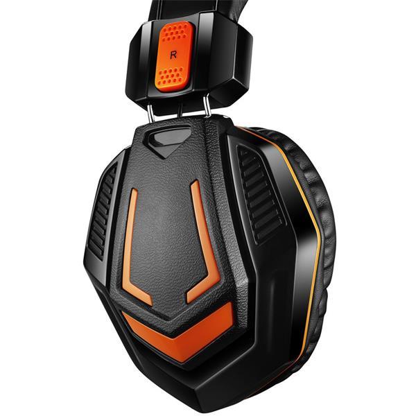 Canyon Fobos CND-SGHS3, hráčsky headset pre pokročilých hráčov, oranžovo čierny