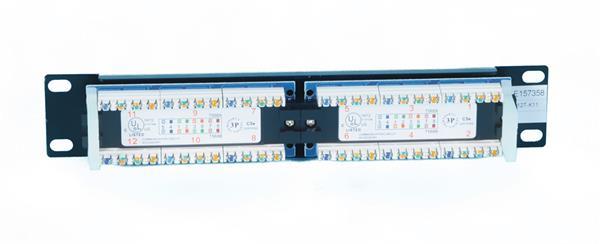 "CNS 10"" patch panel 12port Cat6, UTP, blok 110, 1U, černy"