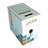 CNS kabel UTP, Cat5E, lanko, PVC, box 305m - šedá