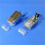 """CNS tienený konektor STP RJ45-8p8c,50µ"""" Au, drôt,skladaný, Cat6, (100ks)"""