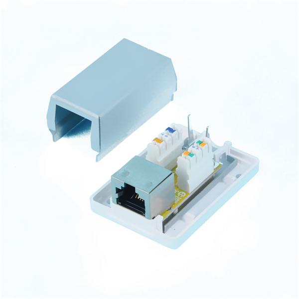 CNS Zásuvka Basic FTP 1 port, Cat6A na om. biela