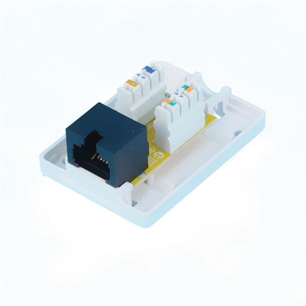 CNS Zásuvka Basic UTP 1 port, Cat5E na om. biela