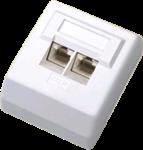 CNS Zásuvka Basic UTP 2 port, Cat5E na om. biela