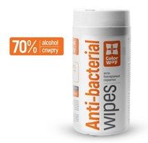 ColorWay Antibakteriálne čistiace utierky s obsahom alkoholu -100ks