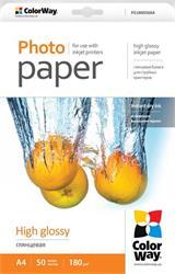 ColorWay Fotopapier Vysoko lesklý 180g/m,50ks,A4