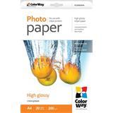ColorWay Fotopapier Vysoko lesklý 200g/m,20 ks,A4