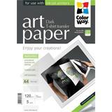 ColorWay Nažehľovací papier na tmavý textil 120g/m, A4, 5ks