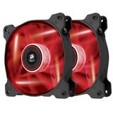 Corsair ventilátor Air Series AF120 LED Red Quiet Edition, 2x 120mm, 25dBA, Twin pack