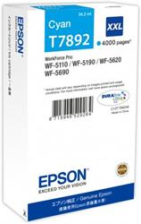 Epson atrament WF5000 series cyan XXL - 34.2ml