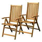 FIELDMANN FDZN 4001-T set 2 ks záhradných stoličiek