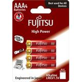 Fujitsu High Power alkalická batéria LR03/AAA, blister 4ks