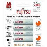 Fujitsu prednabité batérie R06/AA, 2100 nabíjacích cyklov, blister 4ks