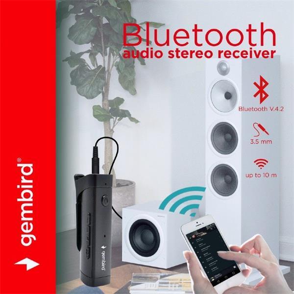 Gembird Bluetooth audio stereo receiver, čierny