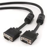 Gembird kábel VGA HD15 (M) na VGA HD15 (M) Premium, tienený, 2 x feritové jadrá, 1.8 m,čierny