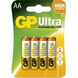 GP Ultra alkalická AA batéria , balenie 4 ks blister
