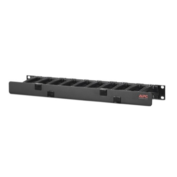 """Horizontal Cable Manager, 1U x 4"""" Deep, Single-Sided with Cover"""