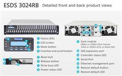 INFORTREND (ESDS 3024R) 2U, 2x host board sloty, 2x6G SAS exp.,24xHDD bay, Dual Controller, 2x2GB, 2x PWS