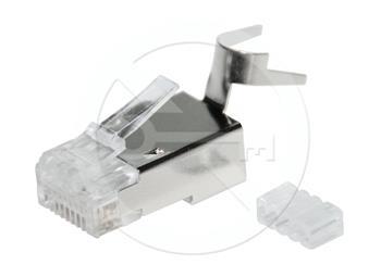Konektor RJ45 CAT6A STP 8p8c stíněný skládaný na drát 1 Ks