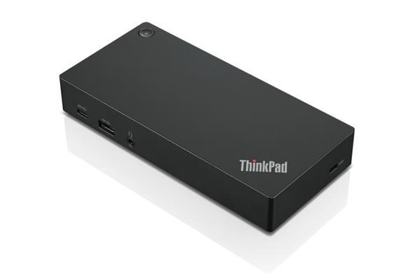 Lenovo ThinkPad USB-C Dock - 90W (2x DP, 1x HDMI, RJ45, 3x USB 3.1, 2x USB 2.0, adapter) pripojit max. 2x LCD