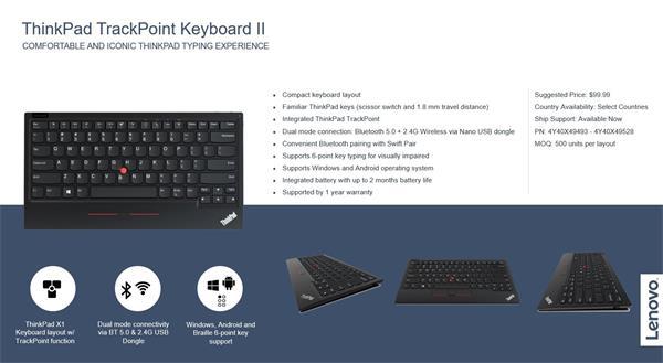Lenovo trackpoint keyboard wireless bluetooth - slovenska klavesnica