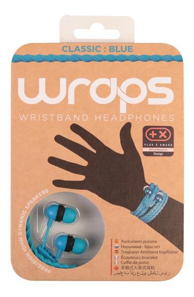 MIDBASS WRAPS Classic - slúchadlá do uší / náramok - modré