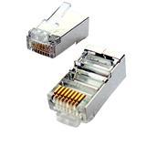 """OEM Tienený konektor STP RJ45-8p8c,50µ"""" Au, drôt, Cat5, (100ks)"""