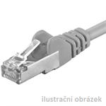 OPTIX patch kábel Cat6, FTP - 10m , šedý