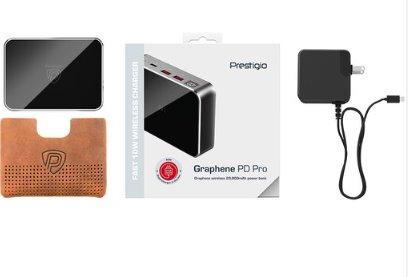 Prestigio Grafénová PowerBanka, nabíja viacero zariadení, viacúrovňový bezpečnostný systém, 20 000 mAh