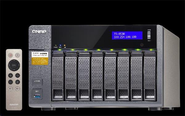QNAP™ TS-853BU-RP-8G 8 Bay NAS, Intel Celeron QC J3455 2x4GB