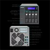 QNAP™ TVS-471-i3-4G 4bay 4GB 4LAN 10G-ready, Dual-core Intel Core i3-4150 3.5 GHz Processor