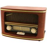 ROADSTAR STYLE WOODEN MONO HOME RADIO / AC-DC OPERATING / AM-FM ANALOGUE RADIO
