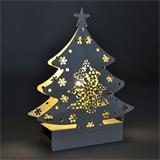 Solight LED kovový vianočný stromček, 2x AA