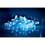 Solight LED vianočná reťaz, hviezdy, 1,5m, 10x LED, 2x AA, modré svetlo