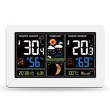 Solight meteostanica, extra veľký farebný LCD, teplota, vlhkosť, tlak, RCC, USB nabíjanie, biela