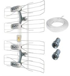 Solight vonkajšia DVB-T anténa, 42-47dB, VHF/UHF, 6. - 69. kanál