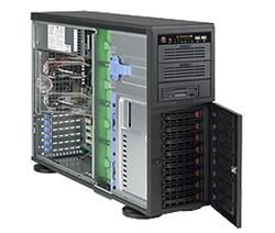 "Supermicro® SC745TQ-R1200B/ 8 x 3.5"" SAS/SATA Hot-swappable/redundant 1+1 /Tower/4U chassis black"