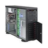"""Supermicro® SC745TQ-R1200B/ 8 x 3.5"""" SAS/SATA Hot-swappable/redundant 1+1 /Tower/4U chassis black"""